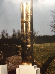 Totem, in bronze, Berrell Jensen