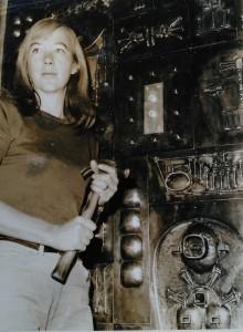 Berrell Jensen, publicity shot, Santam Bank, Johannesburg, 1966